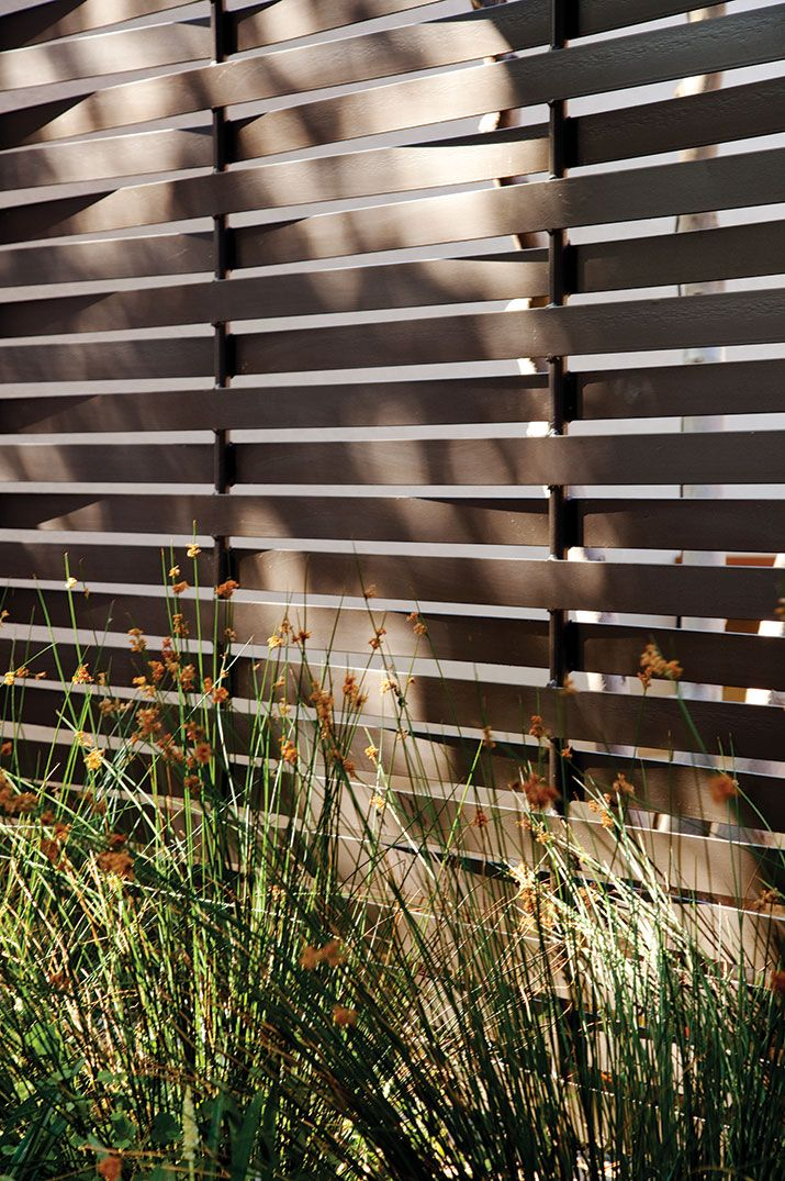 Metal fence - Scott Lewis Landscape Architecture