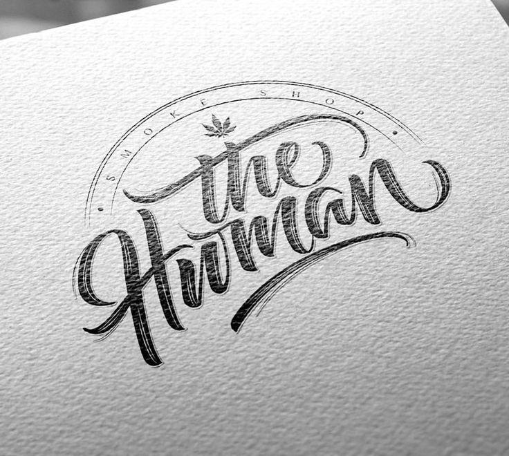 The Human Smoke Shop. Hand lettering logo. #handlettering #lettering #calligraphy #logo #logotype #logos #type #smoke #smokeshop #420 #weed #human