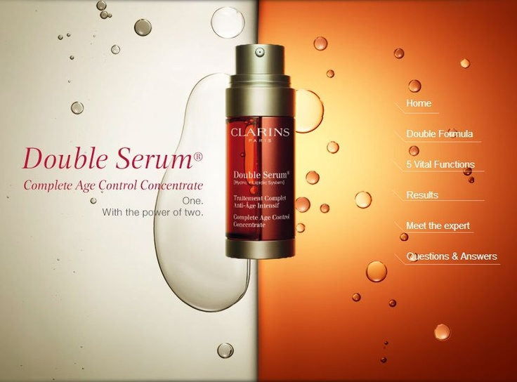 Check out the Double Serum tab on Clarins' Facebook page! Get all the info you need on the innovative Double Serum here:http://on.fb.me/14Bs6p0