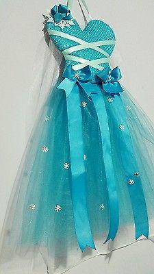 Frozen inspired Elsa hair bow organizer or holder in turquoise