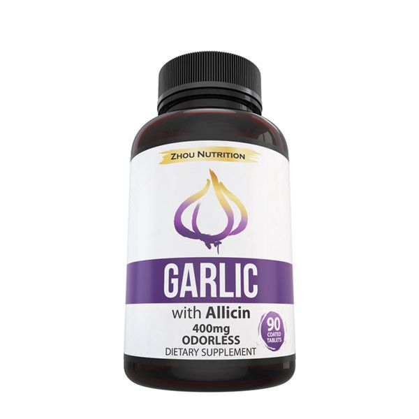Odorless Garlic With Allicin - 90 Count, 400mg