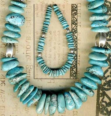 Mexican-NACOZARI-TURQUOISE-Beads-Blue-Natural-Color-Genuine-6-10mm-8-5-Str