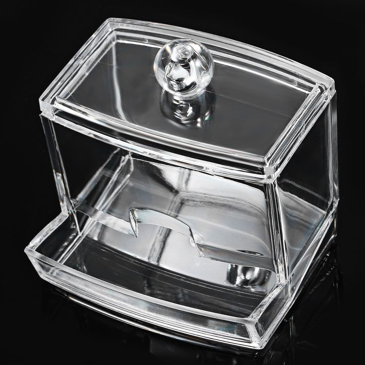 Modern Concise Style  Square Acrylic Tissue Box Creative makeup pads cosmetics Transparent Portable  Storage Holder Box
