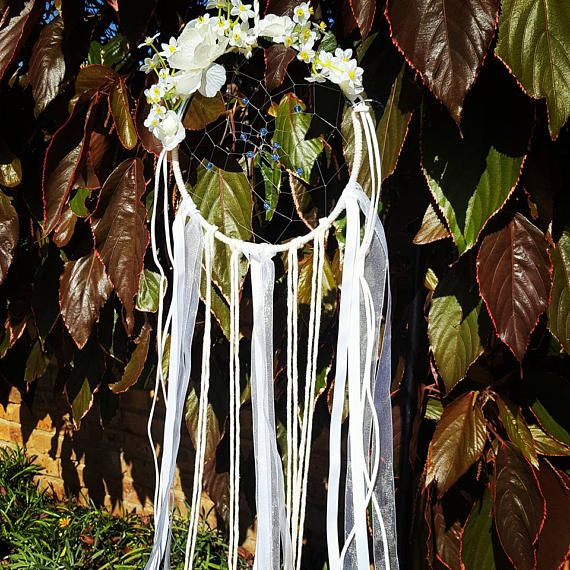 Hey, I found this really awesome Etsy listing at https://www.etsy.com/au/listing/516929438/white-organza-dream-catcher