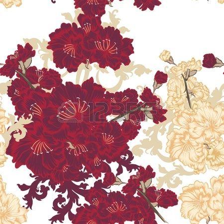 Вектор бесшовные цветочный узор для дизайна обоев photo