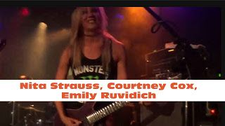 "Nita Strauss Courtney Cox Emily Ruvidich: Metallica - Master of Puppets - The Starbreakers live at The Viper Room   The Starbreakers with their performance of Metallica's ""Master Of Puppets"" at The Viper Room West Hollywood CA June 27 2017. Metallica - Master of Puppets - The Starbreakers live at The Viper Room Courtney Cox Emily Ruvidich Nita Strauss"
