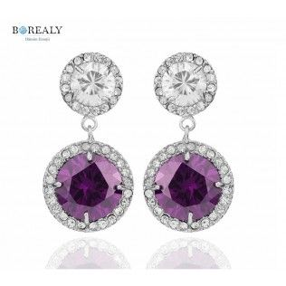 Cercei Royal Purple by Borealy http://www.borealy.ro/bijuterii/cercei/cercei-royal-purple-made-with-swarovski-elements.html