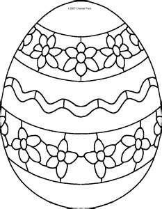 Velikonoční vejce - omalovánka