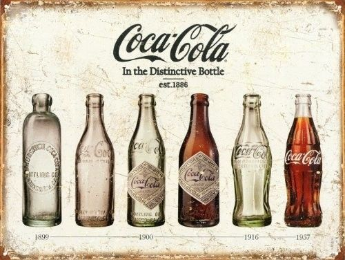 Coca-Cola-Bottle-Evolution-Tin-Sign-16-x-13in-Vintage-Retro-Gift-Idea-New