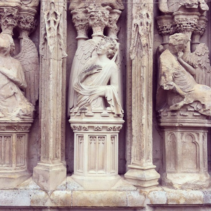 Carvings on Exeter Cathedral facade