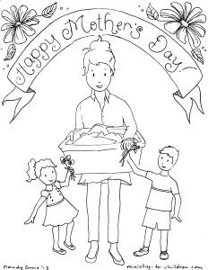 """Happy Mother's Day"" printable, ok for public schools, 100"