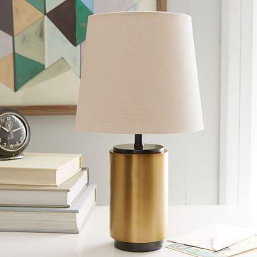 Small Pillar Table Lamp   Antique Brass | West Elm