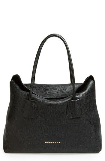 Burberry 'Baynard' Leather Tote at Nordstrom.com. Richly grained leather refines the softly relaxed silhouette of a minimalist tote elegantly topped with ultraslim rolled handles.