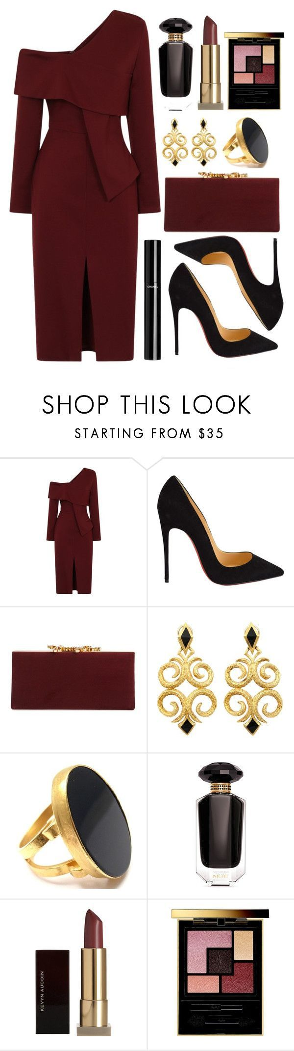 Untitled #4393 by natalyasidunova ❤ liked on Polyvore featuring Christian Louboutin, Jimmy Choo, Yossi Harari, Victoria's Secret, Kevyn Aucoin, Yves Saint Laurent and Chanel