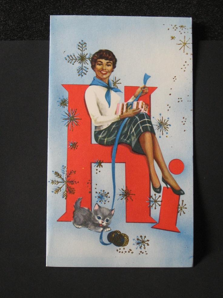 Vintage Original 1950's African American Christmas Card ...