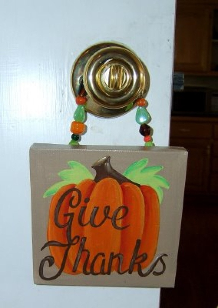 Fall Thanksgiving Give Thanks Pumpkin Canvas By Dreamcustomartwork 1500