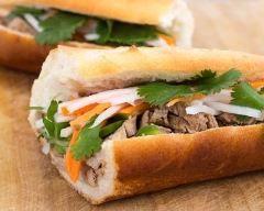 Banh-mi (sandwich vietnamien épicé) (facile, rapide) - Une recette CuisineAZ