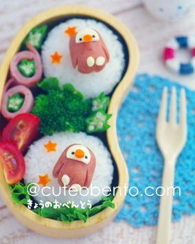 ソーセージペンギンのお弁当 レシピブログ