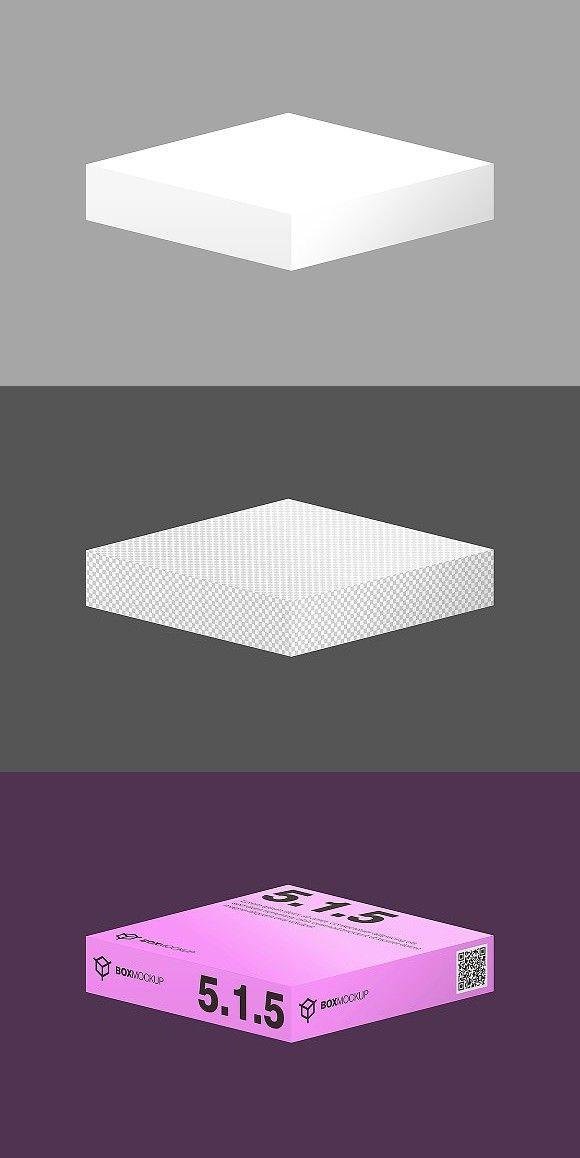Download 5 1 5 Flat Style 3d Isometry Mockup Isometric Design Style Box Mockup