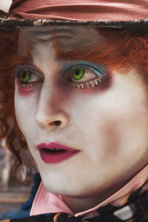 This is how I want the Mad Hatter's makeup to be. Since the mad hatter is a crazy person, I wanted him to have crazy orange make and crazy eye shadow. Everything about the Mad Hatter is crazy and this makeup best represents his crazy-ness.