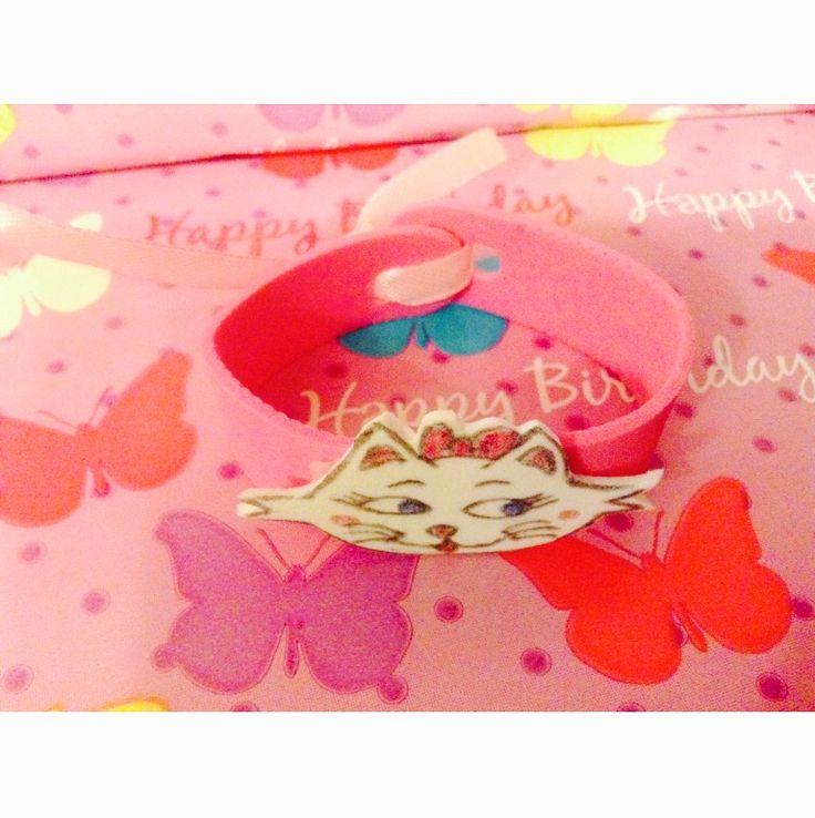 Fiesta de cumpleaños Aristogatos  DIY: pulseras goma eva Gatita Marie Regalo para las invitadas