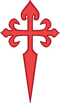 Cross of Saint James...Aragonese. This cross is said to have become the symbol of the crusaders. And we can recognise in popular representation that this is the templar cross.