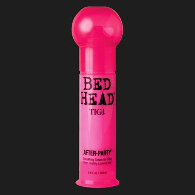 TIGI Bed Head keeps curly hair soft but not sticky; conditions without clumping or weighing down. Like conditioning lotion for your hair! I've tried all kinds of products and nothing works better than this.