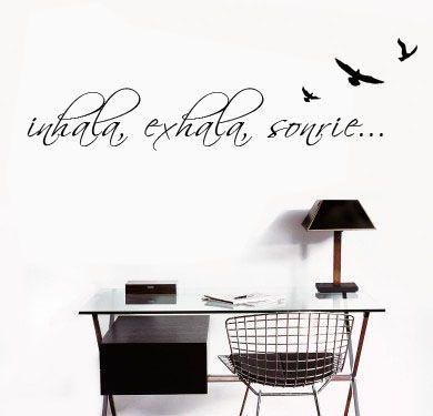 BA_B  Vinilo decorativo de Pared, podes enviar tu frase o texto! Hogar, decoracion, interiores, diseño, wall decals, stickers, calcos, design, poesia, words, palabras, frases, dichos. BA_B