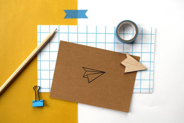 Holidays – Bon voyage cards, paper plane card – a unique product by StudioMaas on DaWanda