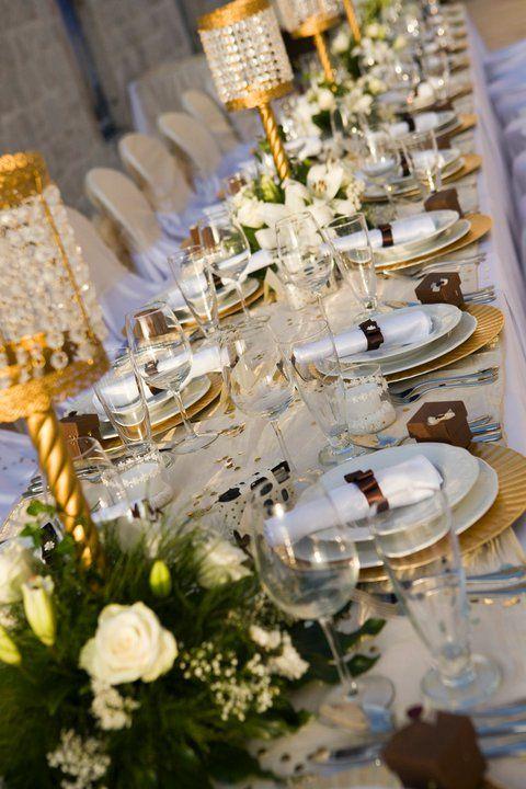 Table settingTables Sets, Grand Parties, Le Croissants, Formal Sets, Parties Tables, White Gold, Croissants D Argent, Elegant Tables, Tables Decor