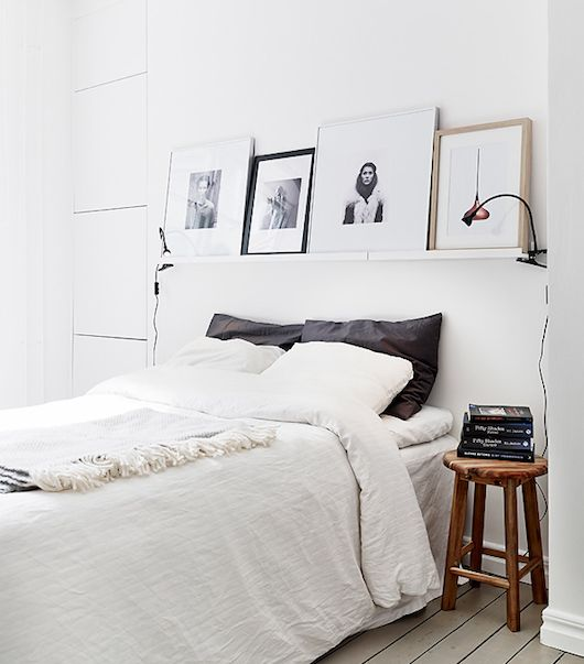 Shelf above the bed- guest room
