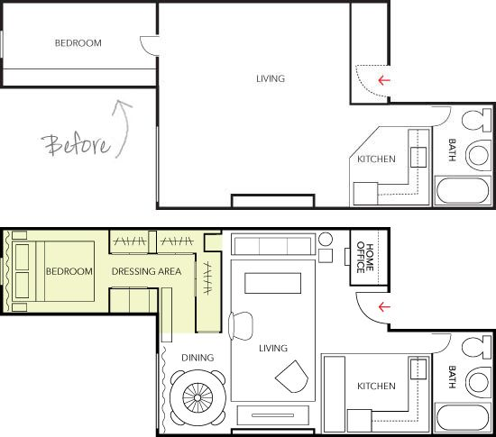 500 sq ft floor plan