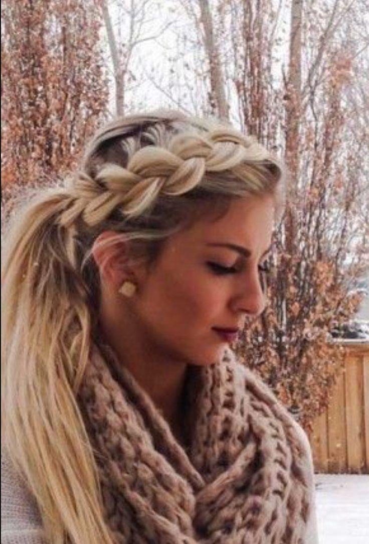 Dutch Plaits Winter Hair