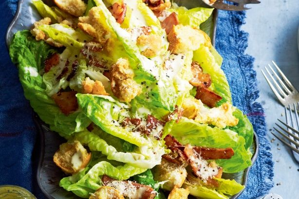 Here's a caesar with the lot - lettuce, bacon, croutons and the rich signature dressing.