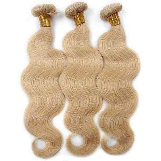 【Brazilian Hair】 cheap brazilian body wave  platinum blonde bundles 100% unprocessed blonde ombre hair extensions