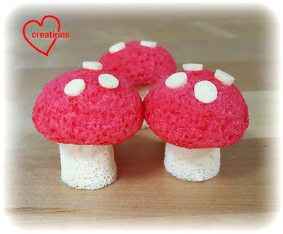 Loving Creations for You: Strawberry-Vanilla Mushroom Chiffon Cake pops