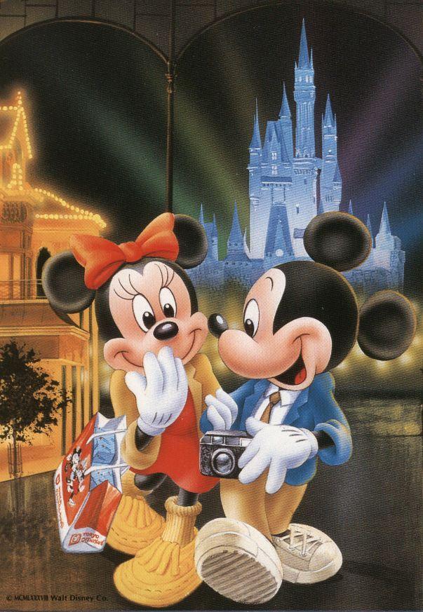 Walt Disney Minnie and Mickey