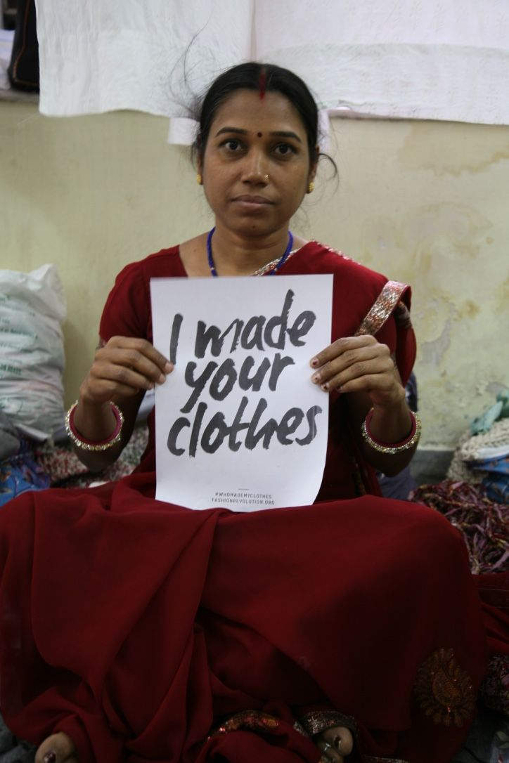 Thank you to Meena Ji for participating in our Fashion Revolution Date at Mehera Shaw.  Meena Ji is our quality control person and upcycled accessories trainer with our women's development project.
