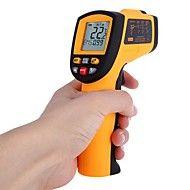 Non-Contact Laser IR termometer -50 til 700 ℃ w Alarm MAX MIN AVG DIF