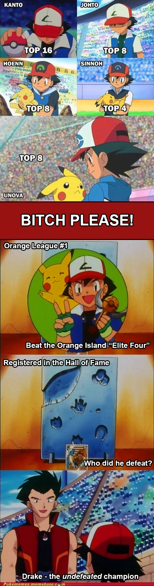 Ash DID Win a League. AND the Battle Frontier. Don't hate on Ash or I WILL hate on you.
