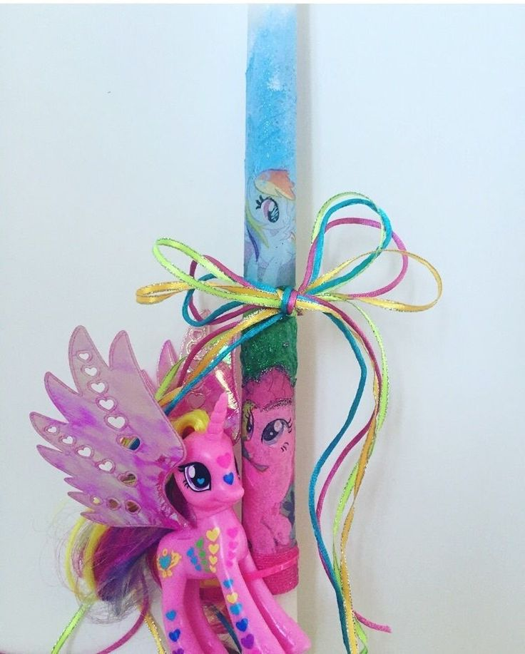 My pony Easter candles custom design any theme