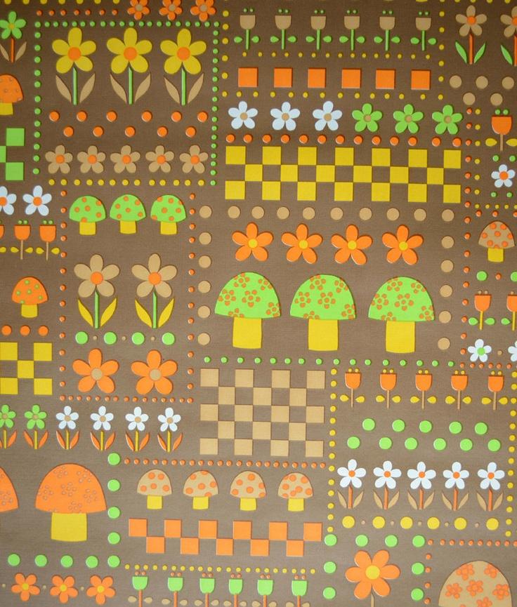 230 best retro fabric design images on pinterest for Retro fabric