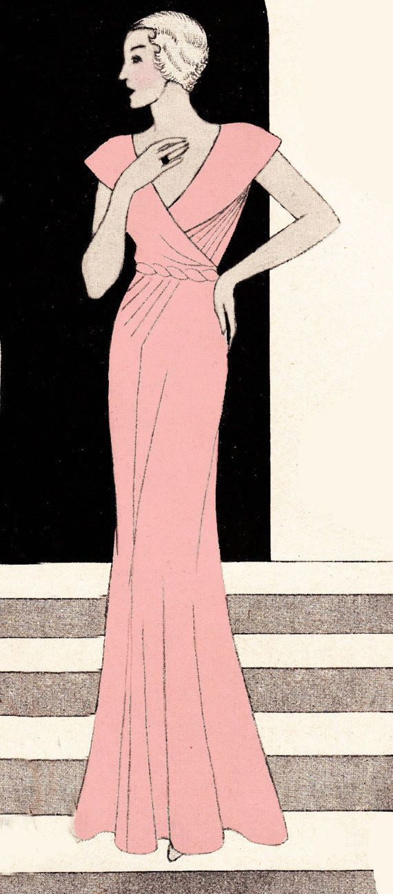 Vintage Sewing Pattern 1930's Evening or Wedding Gown by Mrsdepew