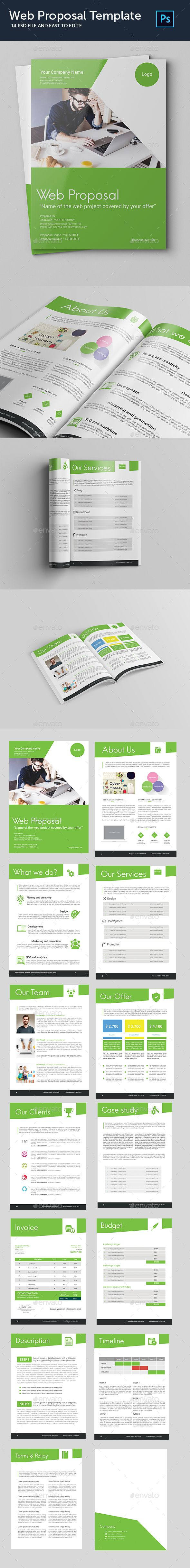 Web Proposal Template PSD. Download here: http://graphicriver.net/item/web-proposal-template/16392886?ref=ksioks
