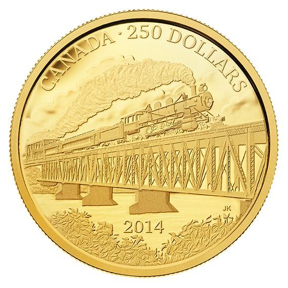 2 oz. Pure Gold Coin - Grand Trunk Pacific Railway - Mintage: 300 (2014)