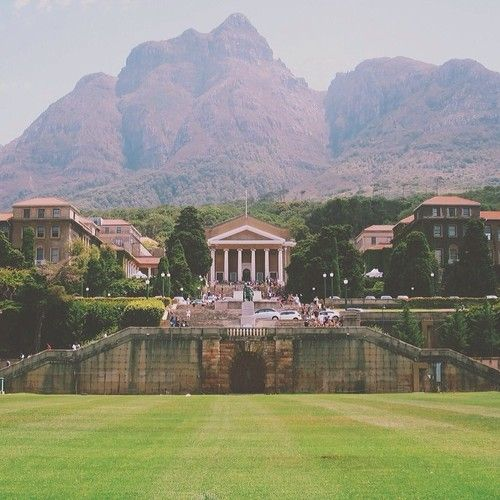 UCT - University of Cape Town has a beautiful campus.