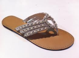 flip flops - dressy flip flops :)    They'd look fab with that maxi dress ;)