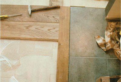 overgang plavuizen en houten vloeren