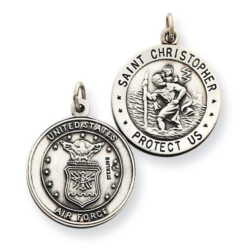 Sterling Silver St.Christopher Us Air Force Medal Shop4Silver. Save 68 Off!. $26.34. Approximate Length: 24 MM (0.94 INCHES). Approximate Width: 18 MM (0.70 INCHES)