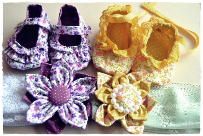 DIY-Baby shoes and head band